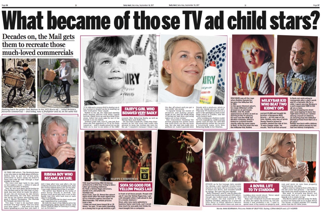 What became of those TV ad child stars? Daily Mail – Anna